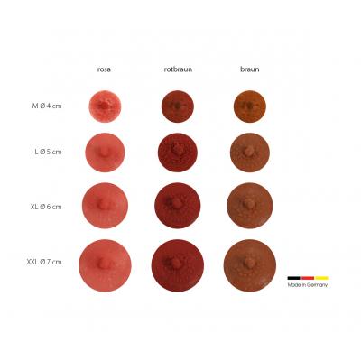 sehr natürliche Brustwarzen Farbton rotbraun