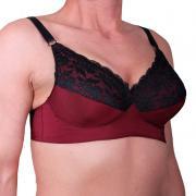 Transwonder bra bourdeux / black