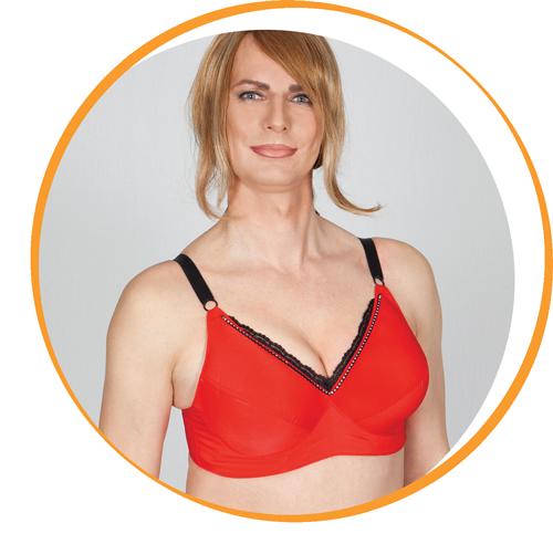 Melly Wonder Bh in rot mit elegantem glatten material im Brustbereich und Strassteinen